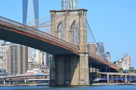 Brooklyn Bridge crossing the East River
