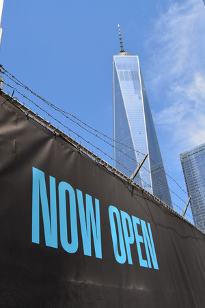 New York City, USA - May 3, 2015 - Newly opened World Trade Center Tower One at Ground Zero.