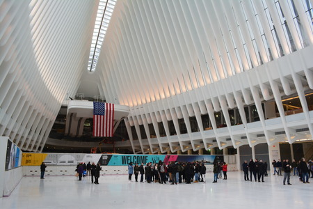 transportaion: New York City March 4 2016 - Grand opening of the Oculus transportation hub at the World Trade Center. Editorial