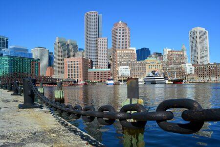 districts: Boston skyline Stock Photo