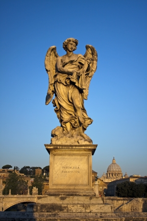 scourge: Angel with Scourge in Ponte Sant Angelo, Rome, Italy