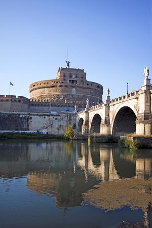 tevere: View of Castel SantAngelo in Rome