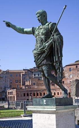 Imperator Gaius Julius Caesar Augustus, first emperor of the Roman Empire, 63 BC-14 AD Editorial