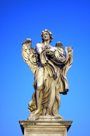 tevere: Angel with Garment and Dice, Rome, Italy