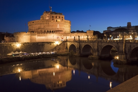 View of Castel Sant'Angelo in Rome, Italy
