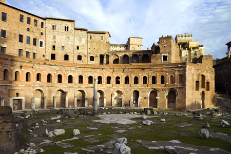 contruction: Trajan market in Rome Stock Photo
