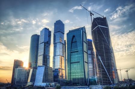 condominium complex: Moscow city, high dinamic range process. Editorial