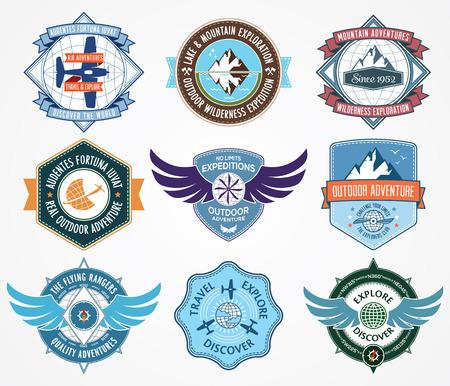Vector badge voor elk gebruik Vector Illustratie