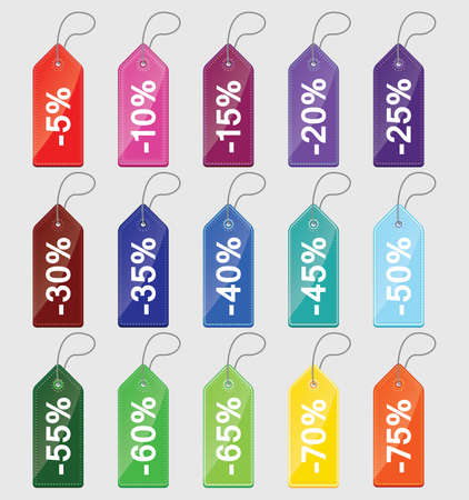 clearence: Seameless vector colored price tags Illustration