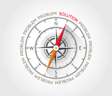 Vector compass about solutions Stock Vector - 27919962