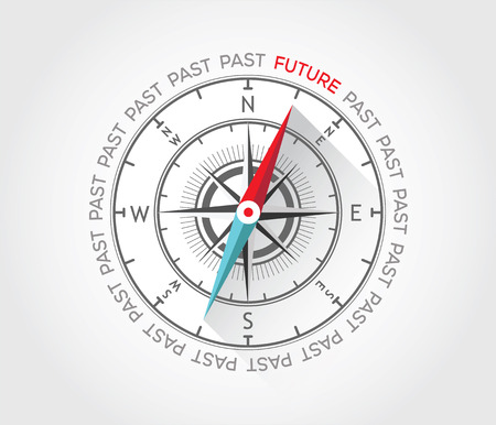 Vector compass about future Vector