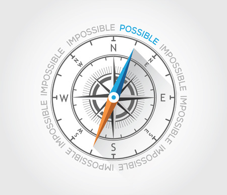 Vector compass about possibilitis Stock Vector - 27919964