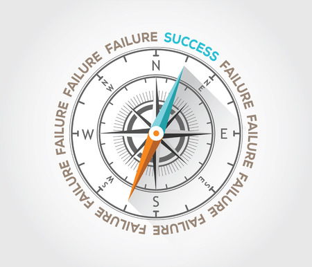 Vector compass about success Stock Vector - 27919973