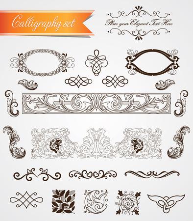 Set of real vintage baroque frames and frills