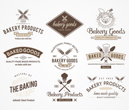 baked goods: Vector badges for any use