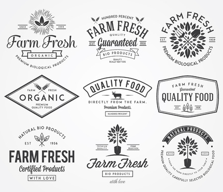 organic farm: Vector badges for any use