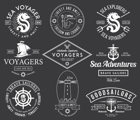 Vector sea badges for any use Vector