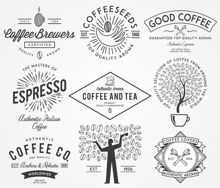 coffee tree: Vector badges for any use