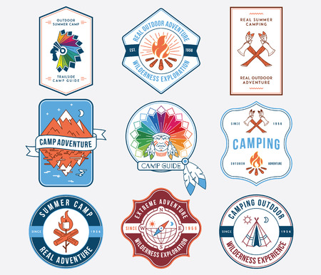 indian summer: Exploration vector badges and labels for any use