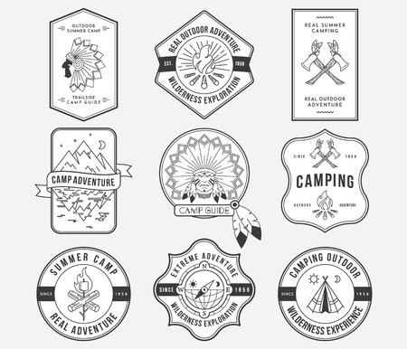 Exploration vector badges and labels for any use Vector