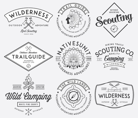 stamps: Scouting vector badges and labels for any use