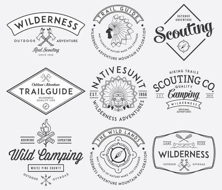 Scouting vector badges en labels voor elk gebruik