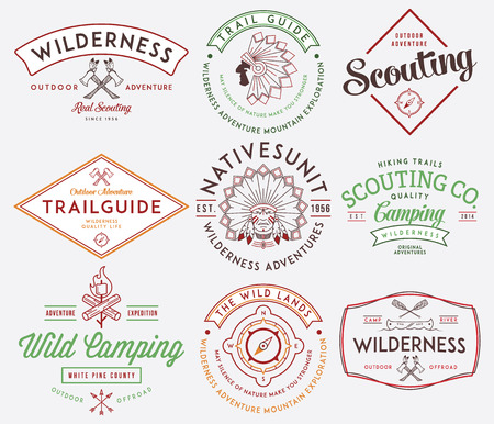 Scouting vector badges and labels for any use Stock Vector - 32385947