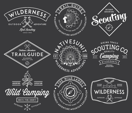 Scouting vector badges and labels for any use