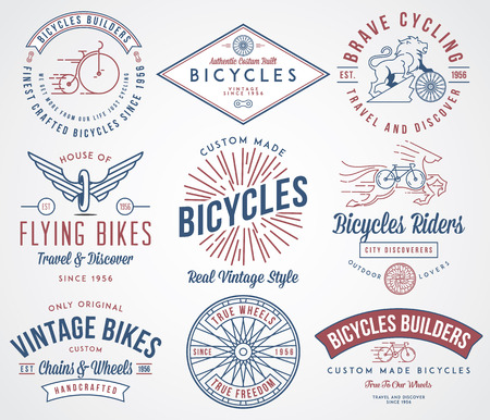 wheel: Vector bicycle badges and labels for any use
