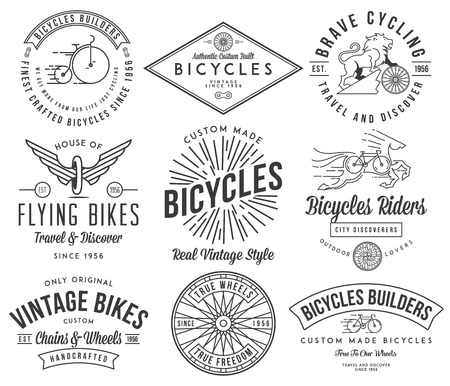 Vector bicycle badges and labels for any use