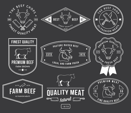 beef cuts: Vector quality beef badges and labels for any use