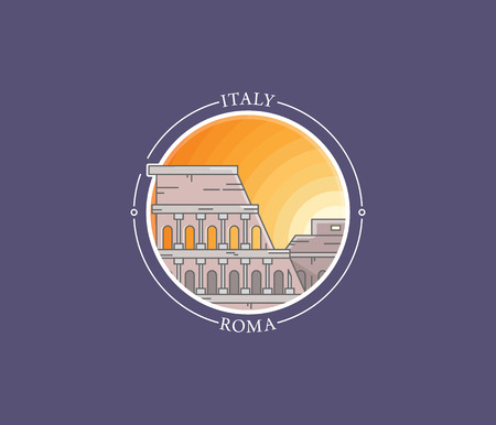 amphitheatre: World famous vector city icons and landmarks