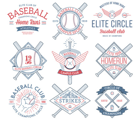 Vector Baseball badges and icons Ilustrace