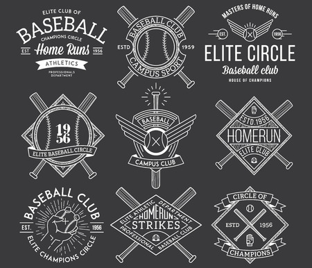 Vector Baseball badges and icons Illustration
