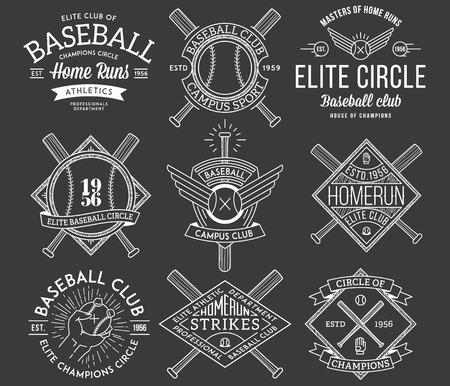homerun: Vector Baseball badges and icons Illustration