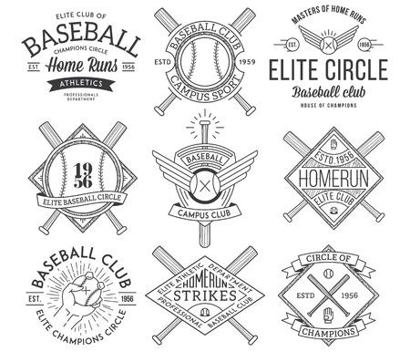 baseball field: Vector Baseball badges and icons Illustration
