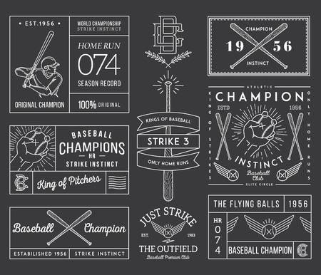 hitter: Vector Baseball badges and icons Illustration