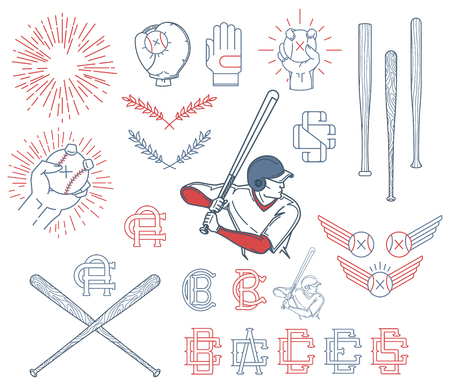 Vector Baseball bundle for any use Vector