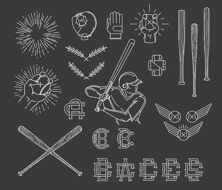 homerun: Vector Baseball bundle for any use Illustration