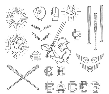 baseball pitcher: Vector Baseball bundle for any use Illustration