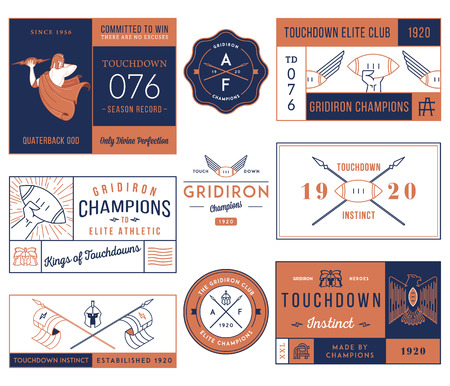 playoff: Vector American footballl badges and crests