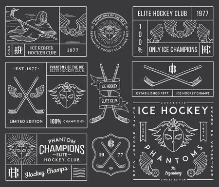 hockey skates: Vector Ice Hockey badges for any use