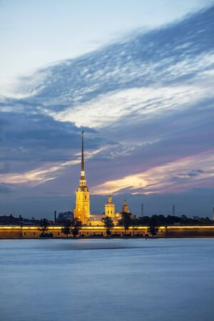 St. Petersburg and the white night period Stock Photo