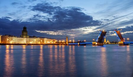 St. Petersburg and the white night period Imagens