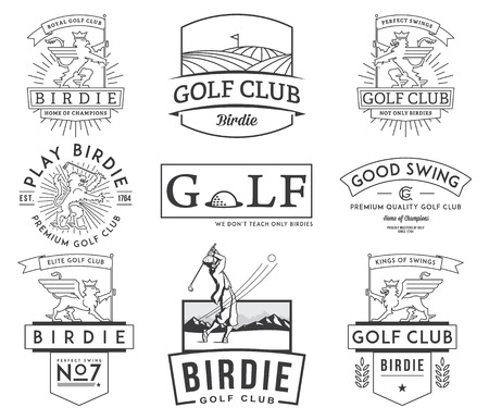 Golf badges and lables for any use Stok Fotoğraf - 43148842