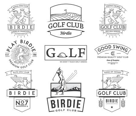 Golf badges en labels voor het gebruik