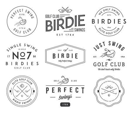 elite sport: Golf badges and lables for any use