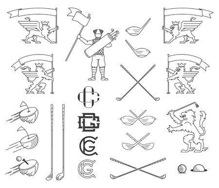 Vector golf bundle for any use