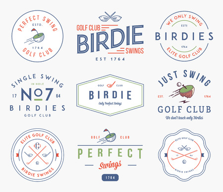 golf tee: Golf badges and lables for any use