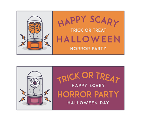 grimy: Happy Halloween vector invitation tickets for any use